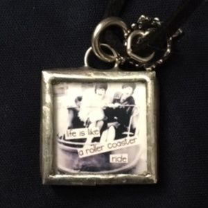 Jewelry - 2 for $10 SALE: Picture necklace w leather strap